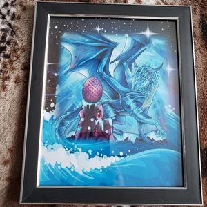 🌻 dragon fantasy framed art portrait 🌻